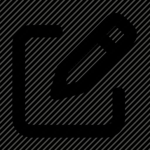 edit, modify, pen, write icon