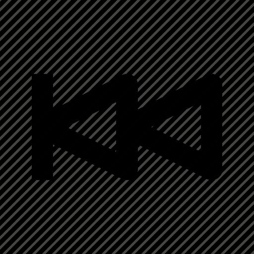 backward, multimedia, rewind, step icon