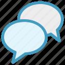 bubbles, chatting, comment, conversion, discussion, messages, talk