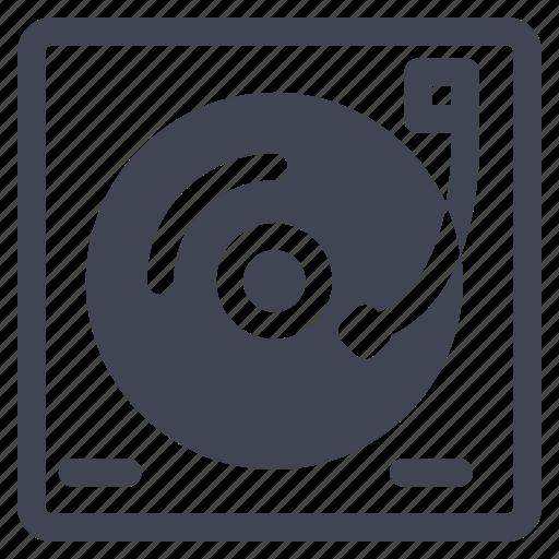 dj, media, multimedia, music, sound, table, turn icon