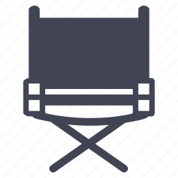 chair, director, furniture, media, multimedia icon