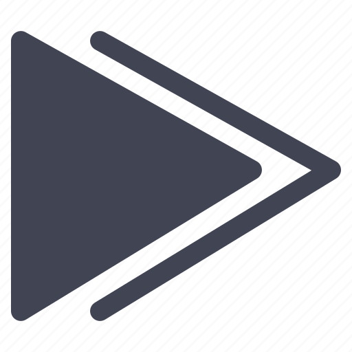 arrow, fast, forward, media, multimedia, pointer, right icon