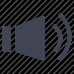 audio, media, medium, multimedia, sound, volume icon
