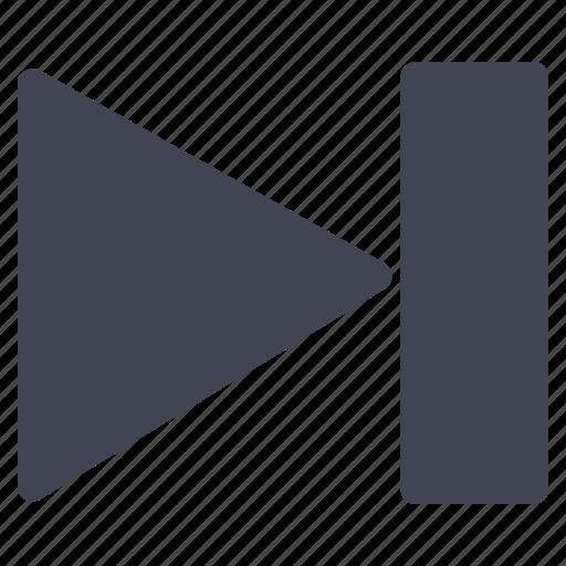 arrow, media, multimedia, next, pointer, right icon