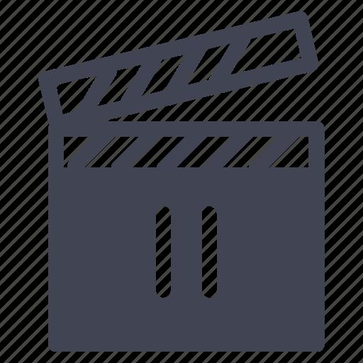 media, movie, multimedia, pause, video icon