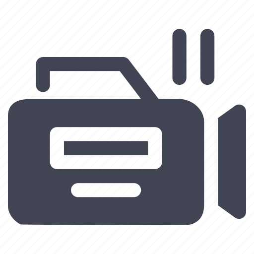 media, movies, multimedia, pause, recording, video icon