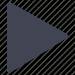 arrow, media, multimedia, play, pointer, right icon