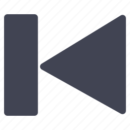 arrow, left, media, multimedia, pointer, previous icon