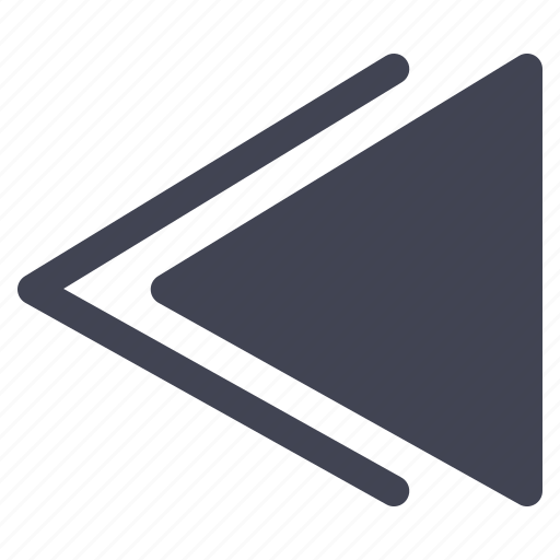arrow, left, media, multimedia, pointer, rewind icon