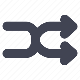 arrow, arrows, media, multimedia, shuffle icon