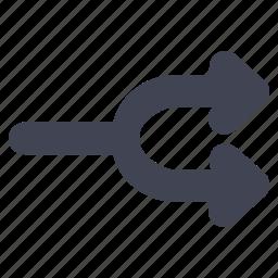 arrow, arrows, multimedia, shuffle, split icon