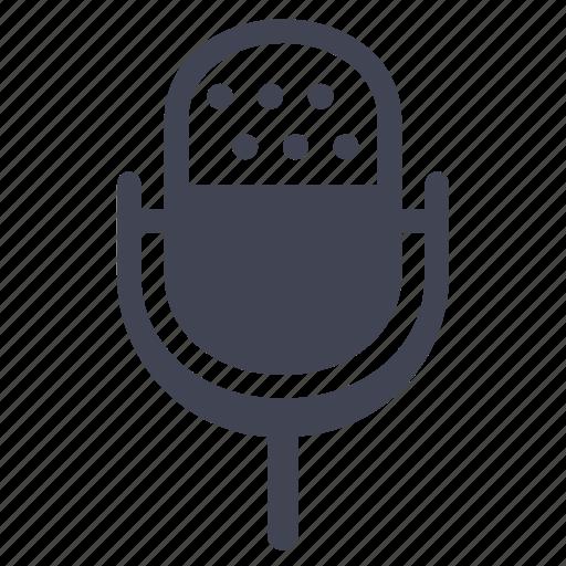 audio, microphone, multimedia, record, sound, vintage icon