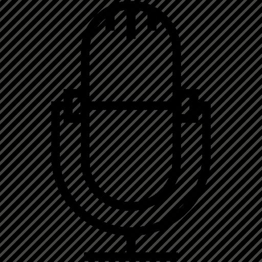 mic, microphone, radio mic, recording, speak icon
