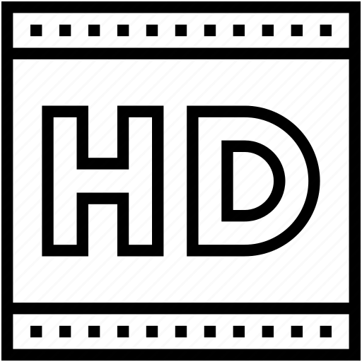 hd, hd file, hd video, high definition, technology icon
