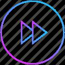 forward, next, player, video icon