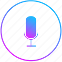 listen, mic, record, voice icon
