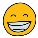 emoticon, grinning, multimedia, smiley icon