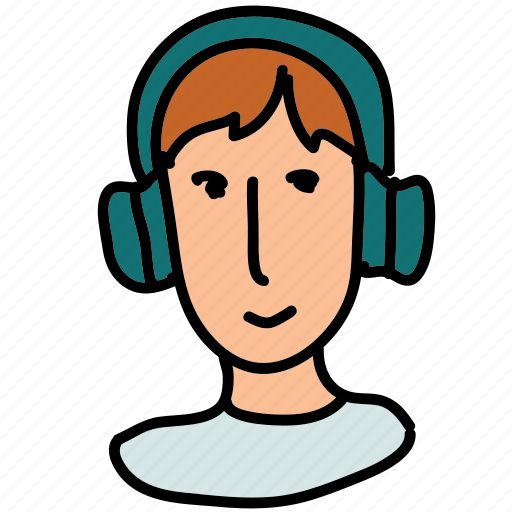 headset, multimedia, person, support icon