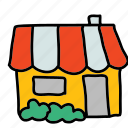 house, multimedia, neighbour, roof, shop, store icon