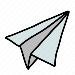airoplane, message, multimedia, paper, send, share, text icon