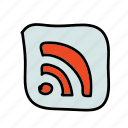 feed, multimedia, receive, rss, send, share icon