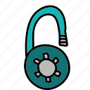 multimedia, private, safety, security, unlock icon