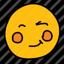 emoticon, multimedia, smiley, winking, emoji
