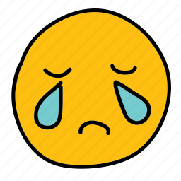 crying, emoticon, multimedia, sad icon