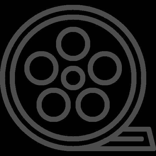 cinema, entertainment, film, movie, roll, theater, video icon