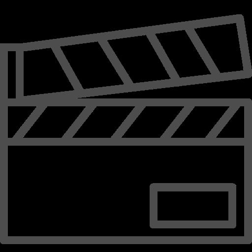 cinema, entertainment, film, movie, slate, theater, video icon