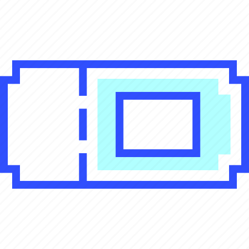 electronic, entertainment, movie, multimedia, play, ticket icon