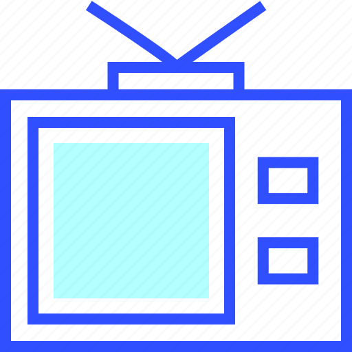 device, electronic, entertainment, gadget, multimedia, old, television icon