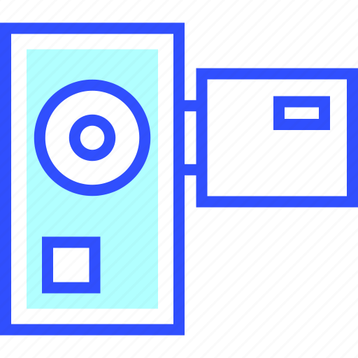device, electronic, entertainment, gadget, handycam, multimedia, play icon