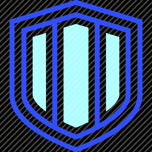 entertainment, games, play, shield icon