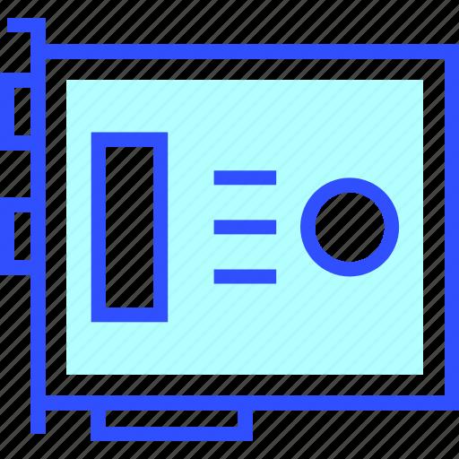 card, device, electronic, entertainment, gadget, multimedia, vga icon