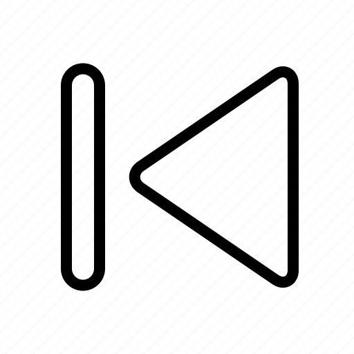 arrow, back, media, previous icon