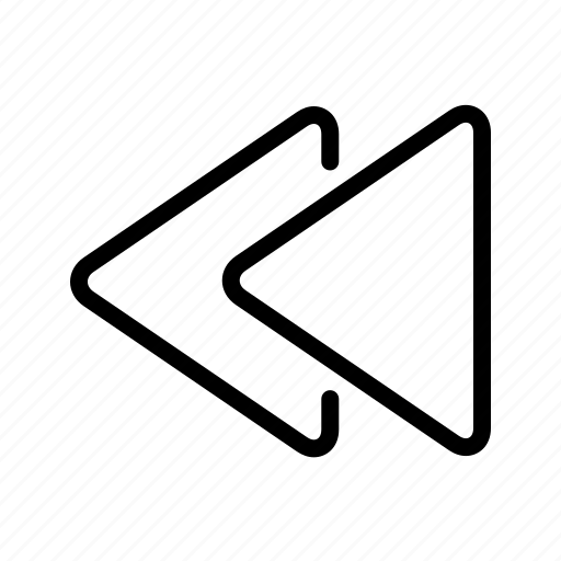 arrow, back, backward, media icon