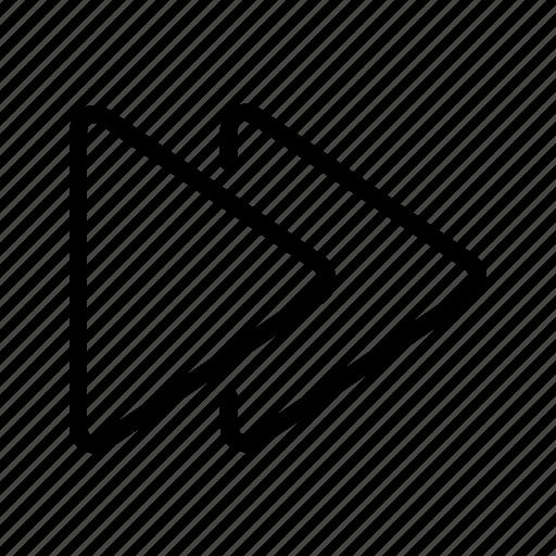 arrow, forward, media, next icon