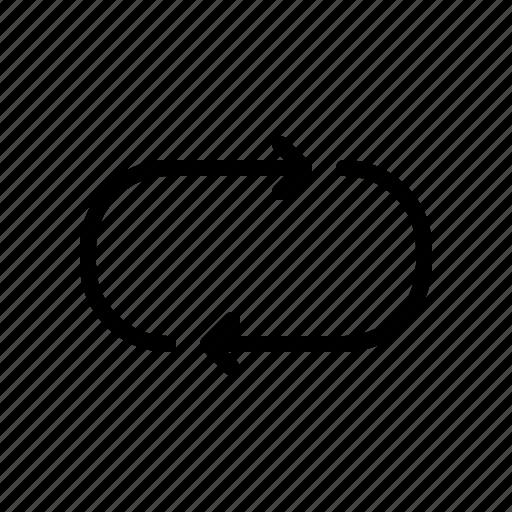 arrow, loop, media, repeat icon