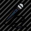 microphone, karaoke, sound, simple, technology, lineart, speech