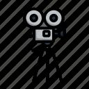 reel, cinema, film, video, lineart, old, camera