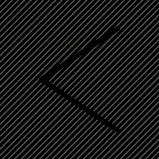 arrow, control, left, multimedia, previous, track, ui icon