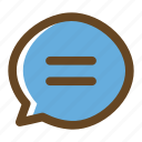 bubble, chat, color, customer service, filled, message, multimedia