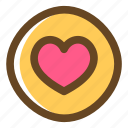 color, filled, heart, love, multimedia, pin icon