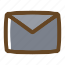 color, filled, mail, message, multimedia icon