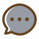 bubble, chat, color, filled, message, multimedia icon