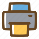 color, document, filled, multimedia, print, printer icon