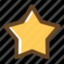 bookmark, color, favorite, filled, multimedia, star icon