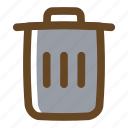 bin, color, delete, filled, multimedia, remove, trash icon