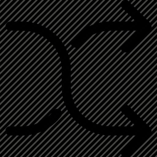 arrow, arrows, mix, random, shuffle icon
